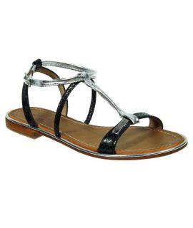 Sandales Les Tropéziennes par M Belarbi Haquina noir argent