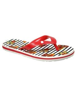 Desigual Flip Flop Flores Rayas rouge - Tongs 74HSED2