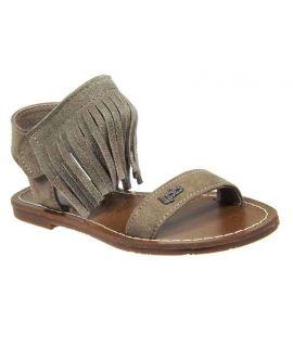 Sandales velcro Les Petites Bombes J Sandra taupe