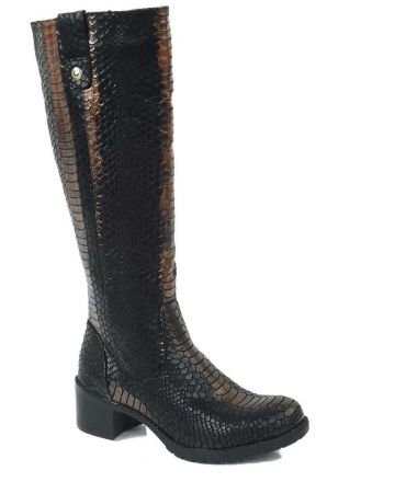 Bottes imitation croco Chattawak Perrine bronze