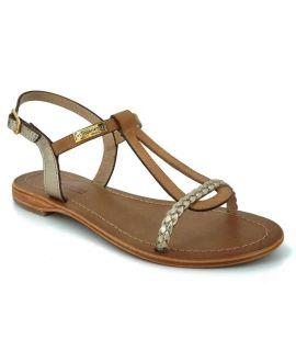 Les Tropéziennes par M Belarbi Hatress miel or | Nouveauté sandales femmes cuir
