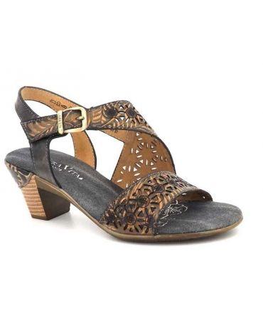 Sandale à talon Laura Vita Bettino 15 noir