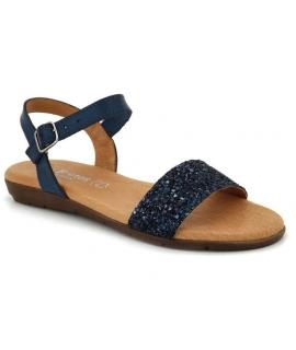 Nu pieds confort Eva Frutos 7190 Glitter marino