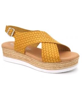 Eva Frutos sandale cuir naturel 7398 Amarillo (jaune)