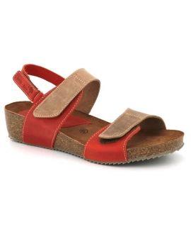 Sandale liège Inter Bios 5343 rouge