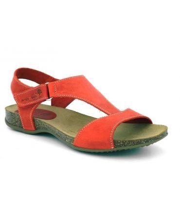 Sandale Inter Bios 4420 rouge en cuir naturel