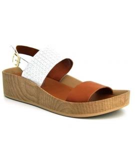 Sandale compensée Métamorf'Ose Cancale blanc