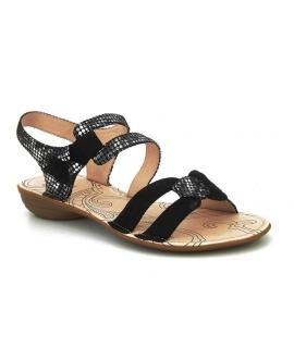 Sandale fermeture velcro Fugitive Aléra noir