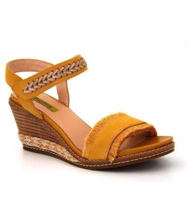 Sandale compensée Fugitive Isily jaune