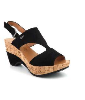 Sandale à talon compensé Les P'tites Bombes Jacinthe noir