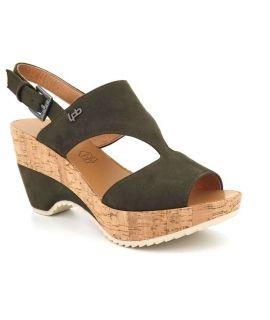 Sandale type nu pieds Les P'tites Bombes Jacinthe kaki