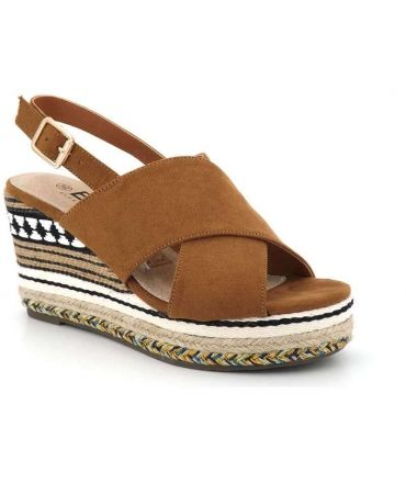 Sandale compensée Cerfa camel Elue par nous