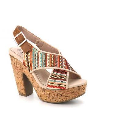 Sandale à talon Elue Par Nous Ceret multi couleurs