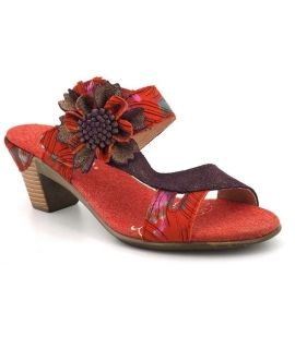 Mules à talon Laura Vita Bettino 17 rouge