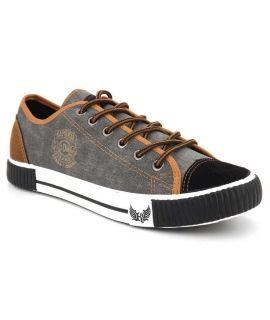 Chaussures Kaporal Dona noire, basket toile homme
