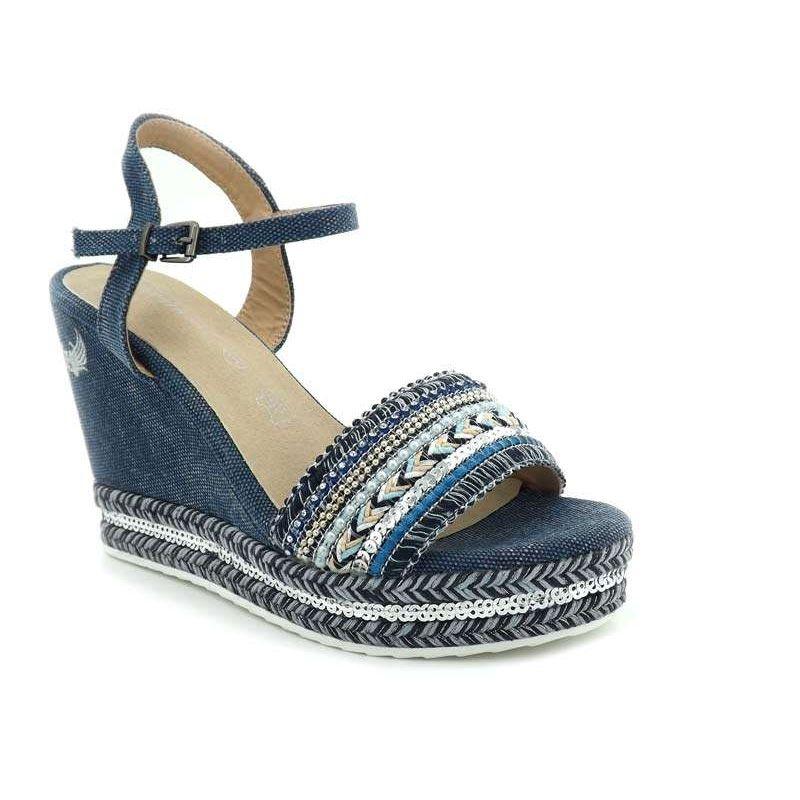 Kaporal Achats Femmes Compensée Tali Chaussures MarineSandale Yf6gy7vb