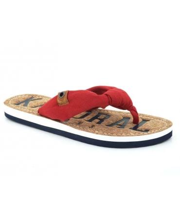 plus récent chaussures exclusives classique chic Claquettes tongs femmes Kaporal Takine | Entre doigt tissu léger à la mode