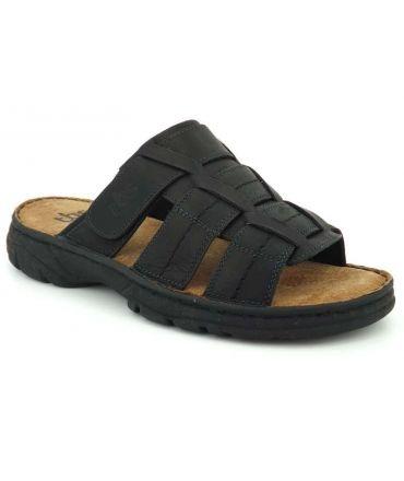 Mules hommes TBS Refrin noir, chaussures confortables