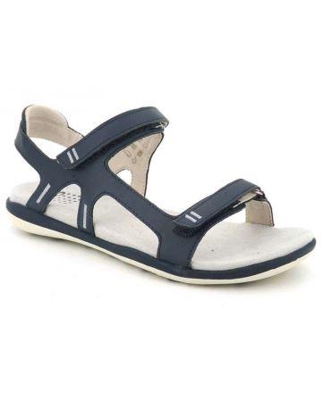 Sandale femme Tbs Raniah Marine, nu pied avec scratch