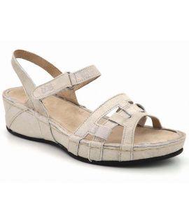 Sandale femme TBS Vladia blanc, fermeture velcro