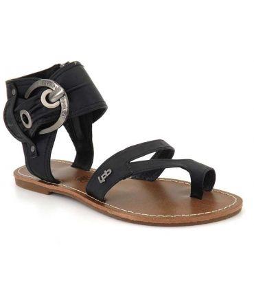 Sandale passe orteil Les P'tites Bombes Pensée noir