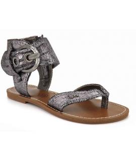 Sandale Les P'tites Bombes Thalie Metal gris