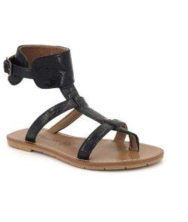 Spartiate Chattawak El Paso noire | Nus pieds femmes collection été