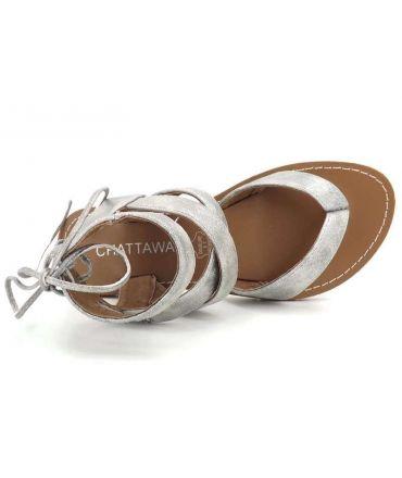 cc2496f92f781 Ventes nu pied femme Chattawak Java | Sandale entre doigt fermeture lacet