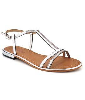 Sandale femme Les Tropéziennes Brune argent | Nouveauté nus pieds