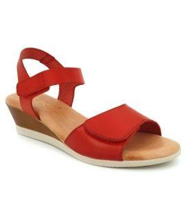 Sandale pieds sensibles Kaola 450 rouge, fermeture velcro