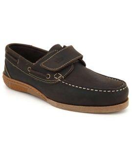 Chaussures bateau en cuir Tbs Homard marron