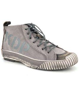 Baskets hautes pour hommes Kdopa Seatel gris, fermeture lacets