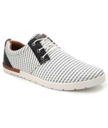 Kdopa Pacifique blanc, sneakers baskets en toile pour hommes
