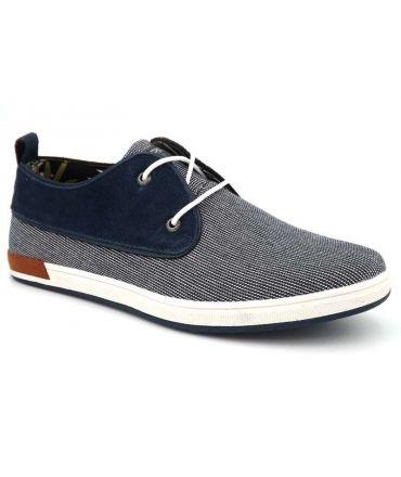 Kdopa Palmas bleu blanc, chaussures derby pour hommes