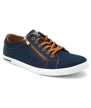 Kdopa Pacome 2 bleu, baskets toile pour hommes