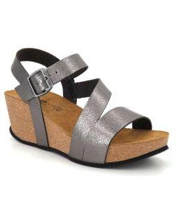 Kedzaro sandale compensée liège Ked plomb