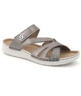 Mules confortables Inblu EK03GC46 | Nus pieds femmes cuir + velcro