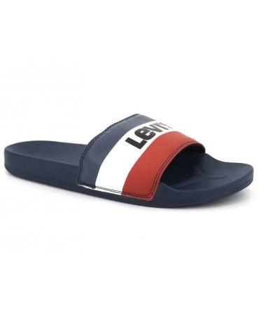 Mule Lévi's June II Olympic bleu, claquettes de plage pour hommes