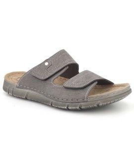 Mules velcro INBLU JS224F24-Gris | Nouveauté chaussures hommes