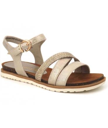Marco Tozzi sandale 28410-20 platine, nouvelle collection