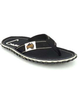Tong Gumbies Islander Black | Nus pieds toile unisex original