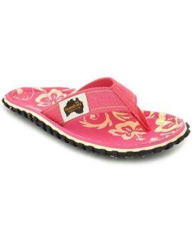 Gumbies Islander Pink Hibiscus | Tongs femmes imprimée rose