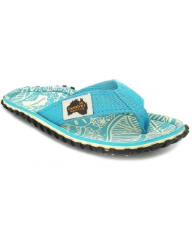 Tongs Gumbies Islander Turquoise Pattern pour femmes
