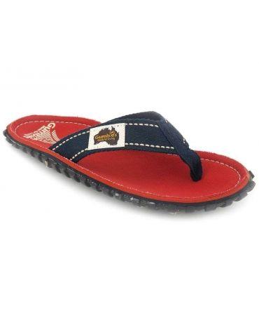 Gumbies Islander Coast, tongs rouge pour hommes