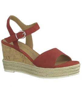 Nu-pied compensée pour femmes Marco Tozzi 28337-22, sandale tige en cuir