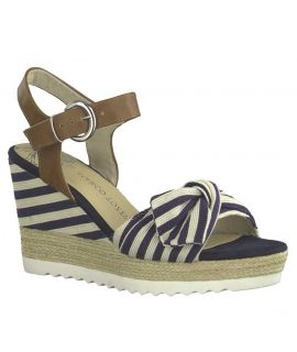Sandale, espadrille compensée Marco Tozzi 28706-22 bleu