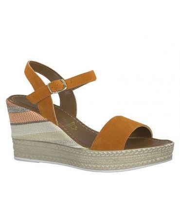 Marco 22 Ventes Chaussures OrangeSandale Compensée 347 Tozzi 28 7vmbyfIY6g