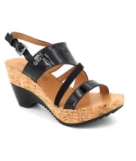 Lpb Shoes sandale compensée Juliette v noir