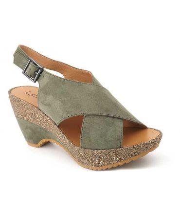 Sandale Lpb Shoes Lalie kaki, nouveauté chaussures femmes