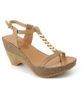 Sandale compensée Lpb Shoes Maeva beige, nouveauté chaussures femmes